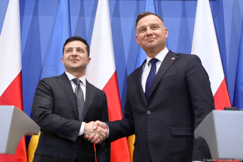 Andrzej Duda i Wołodymyr Zełeński KPRP