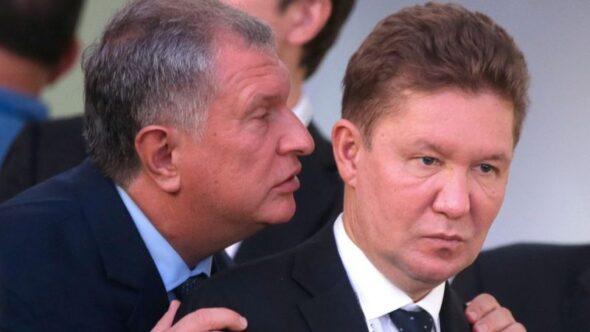 Prezes-Rosnieftu-Igor-Sieczin-i-Gazpromu-Aleksiej-Miller-fot.-Khodorkovskiy-Centr-590×2000